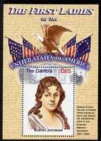 Gambia 2007 The First Ladies of the USA - Martha Jefferson perf m/sheet unmounted mint SG MS 5098c