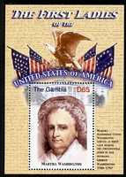 Gambia 2007 The First Ladies of the USA - Martha Washington perf m/sheet unmounted mint SG MS 5098a