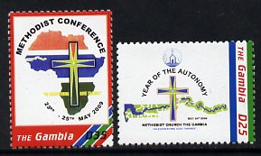 Gambia 2009 Methodist Conference/Year of Automony set of 2 unmounted mint