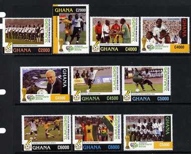 Ghana 2006 Ghana's Qualification for World Cup set of 10 single values unmounted mint, SG 3548-51 & 3568-73