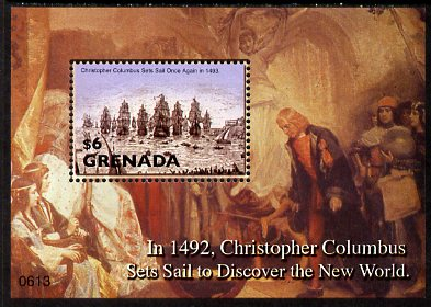 Grenada 2006 500th Death Anniversary of Christopher Columbus perf m/sheet unmounted mint, SG MS5219