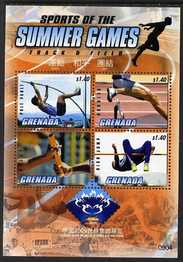 Grenada 2009 Sport of the Summer Games perf sheetlet of 4 x $1.40 with China 2009 World Stamp Exhibition logo unmounted mint