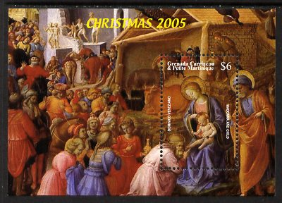 Grenada - Grenadines 2005 Christmas perf m/sheet (Madonna & child - Dominico Veneziano) unmounted mint, SG MS3800