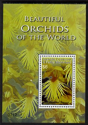 Grenada - Grenadines 2007 Orchids of the World $6 perf m/sheet (Plantanthera chapmanii) unmounted mint, SG MS3891c
