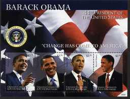 Grenada - Grenadines 2009 Inauguration of Pres Barack Obama perf sheetlet of 4 unmounted mint, SG MS3994
