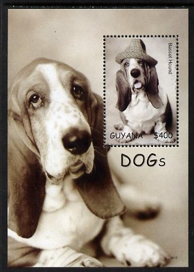 Guyana 2007 Dogs perf m/sheet (Bassett Hound wearing hat) unmounted mint, SG MS6625