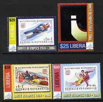 Liberia 2006 Winter Olympics set of 4 unmounted mint