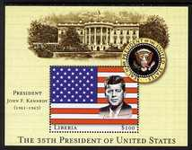Liberia 2007 John F Kennedy - 35th President of the United States perf m/sheet unmounted mint