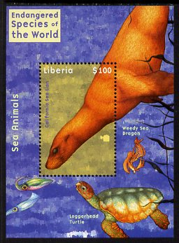 Liberia 2007 Endangered Species of the World perf m/sheet unmounted mint