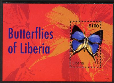 Liberia 2007 Butterflies of Liberia (Iolaus menas) perf m/sheet unmounted mint