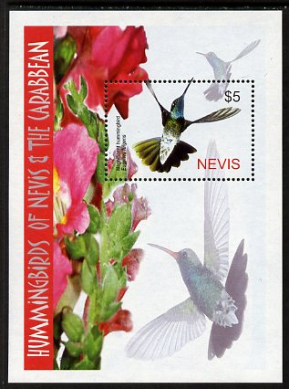 Nevis 2005 Hummingbirds perf m/sheet (Rivoli's 'Magnificent' hummingbird) unmounted mint, SG MS1878