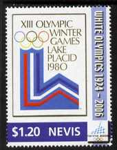 Nevis 2006 Emblem of Lake Placid Winter Olympics $1.20 from Winter Olympics set unmounted mint, SG 1965