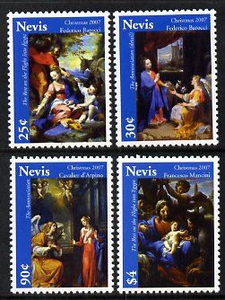 Nevis 2007 Christmas paintings set of 4 unmounted mint, SG 2056-59