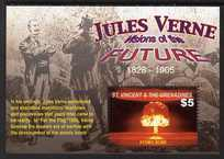 St Vincent 2005 Death Centenary of Jules Verne perf m/sheet (Atomic Bomb), unmounted mint SG MS5491d