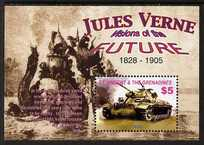 St Vincent 2005 Death Centenary of Jules Verne perf m/sheet (Tank), unmounted mint SG MS5491c