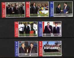 St Vincent 2006 25th Anniversary of Diplomatic Relations with Taiwan set of 7, unmounted mint SG 5592-98