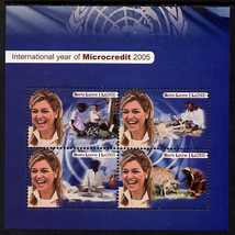 Sierra Leone 2005 International Year of Microcredit perf m/sheet of 4 values unmounted mint, SG MS4394