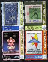 Sierra Leone 2006 Turin Winter Olympics set of 4 unmounted mint, SG 4441-44