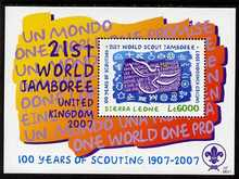 Sierra Leone 2007 Centenary of Scouting & 21st Scout Jamboree perf m/sheet unmounted mint, SG MS4512