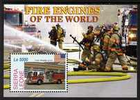 Sierra Leone 2005 Fire Engines perf m/sheet (Fire engine USA) unmounted mint, SG MS4380b
