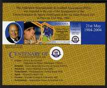 Tanzania 2005 Centenary of FIFA perf m/sheet (Gianfranco Zola) unmounted mint, SG MS2624