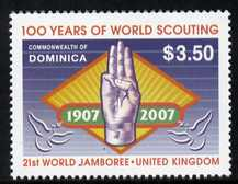 Dominica 2007 Centenary of World Scouting and 21st World Scout Jamboree unmounted mint SG 3536