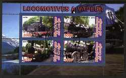 Congo 2010 Steam Locomotives perf sheetlet containing 4 values fine cto used