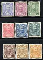 Montenegro 1902 Prince Nicholas perf set of 9 unmounted mint, SG 102-110
