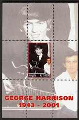 Angola 2001 George Harrison perf s/sheet unmounted mint. Note this item is privately produced and is offered purely on its thematic appeal