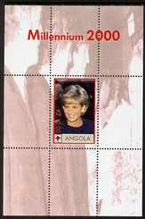 Angola 2000 Millennium 2000 - Princess Diana #2 perf s/sheet (with Scout logo & Beatles in background) unmounted mint. Note this item is privately produced and is offered purely on its thematic appeal