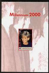 Angola 2000 Millennium 2000 - Princess Diana #2 imperf s/sheet (with Scout logo & Beatles in background) unmounted mint. Note this item is privately produced and is offer...