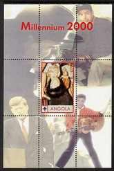 Angola 2000 Millennium 2000 - Marilyn Monroe perf s/sheet (with Scout logo & Elvis, Joe Dimaggio & JFK in background) unmounted mint. Note this item is privately produced...