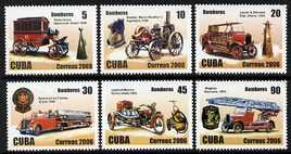 Cuba 2006 Fire Engines perf set of 6 unmounted mint SG 5009-13