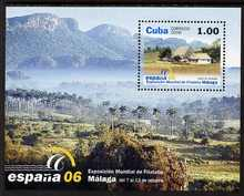Cuba 2006 Espana 06 Stamp Exhibition (Tourist Sites) perf m/sheet unmounted mint SG MS 4986