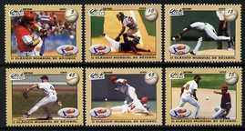 Cuba 2009 World Baseball Competition perf set of 6 unmounted mint