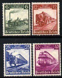 Germany 1935 Railway Centenary set of 4 unmounted mint SG 577-80