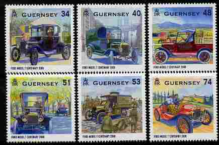 Guernsey 2008 Centenary of the Ford Model T perf set of 6 unmounted mint SG 1242-7