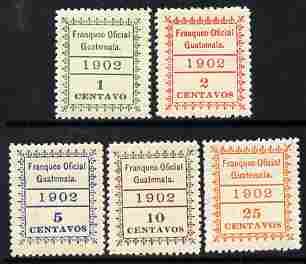 Guatemala 1902 Official perf set of 5 unmounted mint SG O127-31