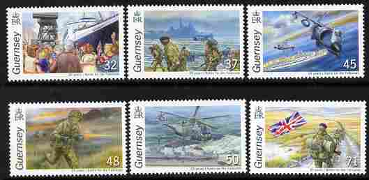 Guernsey 2007 25th Anniversary of Battle for the Falkland Islands perf set of 6 unmounted mint SG 1142-7