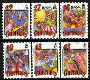 Guernsey 2002 Europa - Circus perf set of 6 unmounted mint SG 942-7
