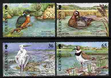 Guernsey 2001 Europa - Water Birds perf set of 4 unmounted mint SG 891-4
