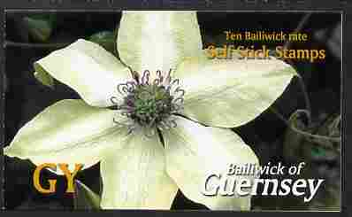 Guernsey 2004 Raymond Evison's Clematis \A32.20 booklet containing 10 x G self adhesive labels, SG SB73