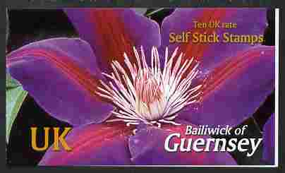 Guernsey 2004 Raymond Evison's Clematis \A32.70 booklet containing 10 x UK self adhesive labels, SG SB74