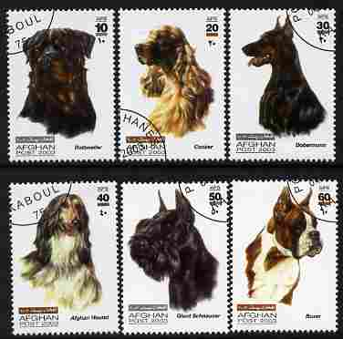 Afghanistan 2003 Dogs perf set of 6 fine cto used