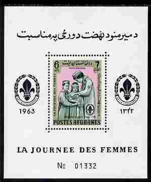 Afghanistan 1961 Womens Day (Scouts) 6a perf m/sheet unmounted mint