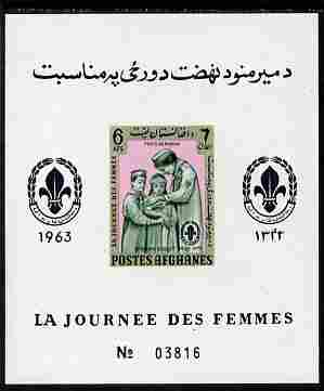 Afghanistan 1961 Womens Day (Scouts) 6a imperf m/sheet unmounted mint