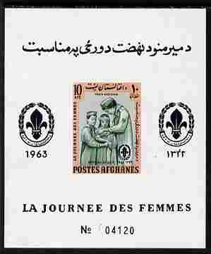 Afghanistan 1961 Womens Day (Scouts) 10a imperf m/sheet unmounted mint