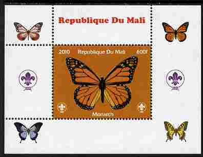 Mali 2010 Butterflies & Scouts individual perf deluxe sheet #1 unmounted mint