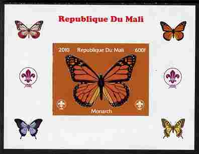 Mali 2010 Butterflies & Scouts individual imperf deluxe sheet #1 unmounted mint. Note this item is privately produced and is offered purely on its thematic appeal