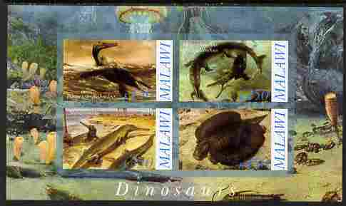Malawi 2010 Dinosaurs #02 imperf sheetlet containing 4 values unmounted mint